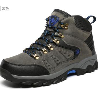 Harga Men's High Waterproof Non-slip Hiking Shoe Outdoor Climbing Shoes Hiking Boot - intl