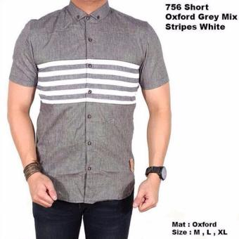 Harga Starting Short Grey Combine Stripes