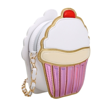 Harga Cute Cartoon Women Ice Cream/ Cupcake Shape Mini Shoulder Bag Metal Chain - intl