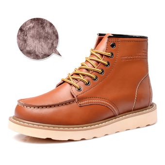 Harga Men leather boots fashion cowboy boots