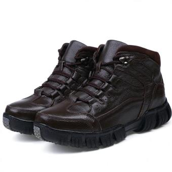 Harga Men's fashion boots High - top boots snow boots