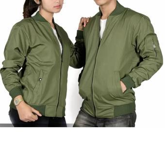 jaket bomber couple pria hijau army