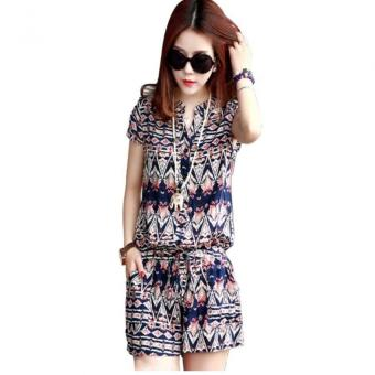 Harga New Jumpsuit Show Thin Printing Leisure Floral