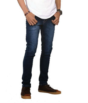 Harga Catenzo Celana Jeans Denim Pensil Be 045 - Biru