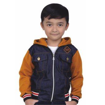 Harga Catenzo Junior Jaket Denim Anak Ricko CRC 005 - Tan