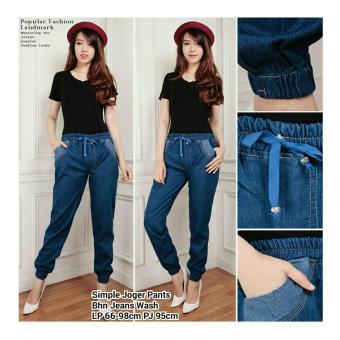 168 Collection Celana Classic Joger Jeans -Biru