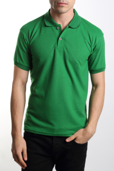 Harga VM Kaos polo shirt polos hijau - green short simple polo shirt