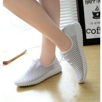 Harga Arlaine Sneakers Smothy Shoes [White]