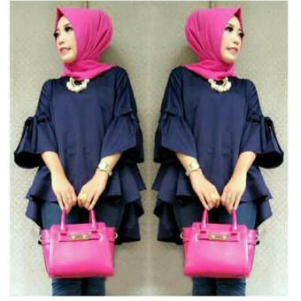 Harga Grateful Blouse Shenny - Navy