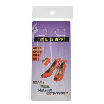 Harga 3Pairs Clear Transparent Invisible High Heel Shoe Straps For Holding Loose shoes