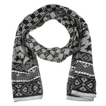 Harga EOZY All-match Men Autumn Winter Soft Warm Scarf Wrap Shawl Scarves Pashmina Size 200*30CM (Grey) - intl