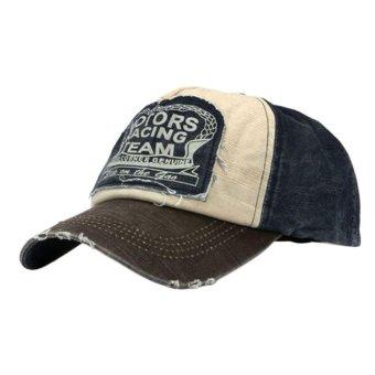 Adapula katun topi baseball cap sepeda motor tepi topi baseball yang dapat menggiling kopi - Internasional