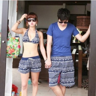 Harga Women Summer beach shorts quick drying couple beach pants classical shorts swim beach pants holiday swimsuit - intl