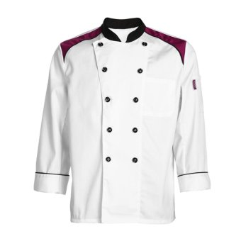 Harga Kitchen Cooker Working Uniform Chef Waiter Waitress Coat Jacket - intl