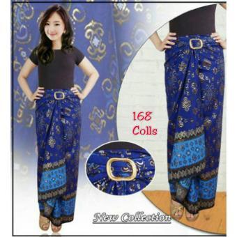 168 Collection Rok Maxi Lilit Reika Batik-Biru