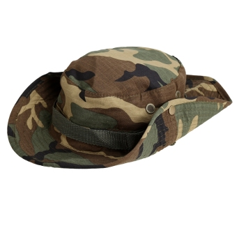 Harga Yika Fishing Snap Brim Camo Boonie Hat (Army Green) - intl
