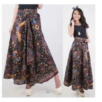168 Collection Rok Lilit Fitria Batik Long Skirt-Multicolor