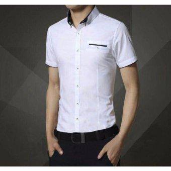 Cheap Kemeja Vicky Lengan Pendek Putih