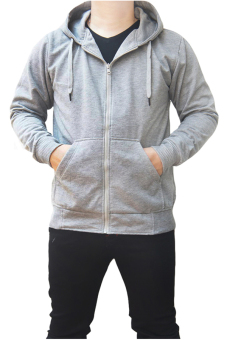 Harga Quincy Jacket Zipper Hoodie Man - Abu-Abu