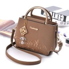 IMF - Handbag Import Korean Style BG1090 Coklat Free Gantungan