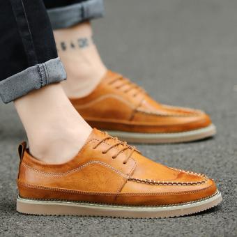 Jual Inggris bernapas sepatu kulit pria sepatu (Coklat) Terpercaya ... a70c4d9e3c