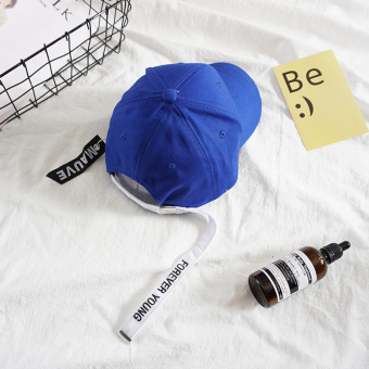 Ins Korea Fashion Style biru pita panjang topi topi (Selamanya-Young-biru)