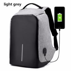 Intristore Tas Pria Theft Bagpack Anti Maling bahan oxford- Gray