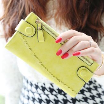 Irak babe Korea Fashion Style perempuan matte renda Dompet baru wallet (Kuning)