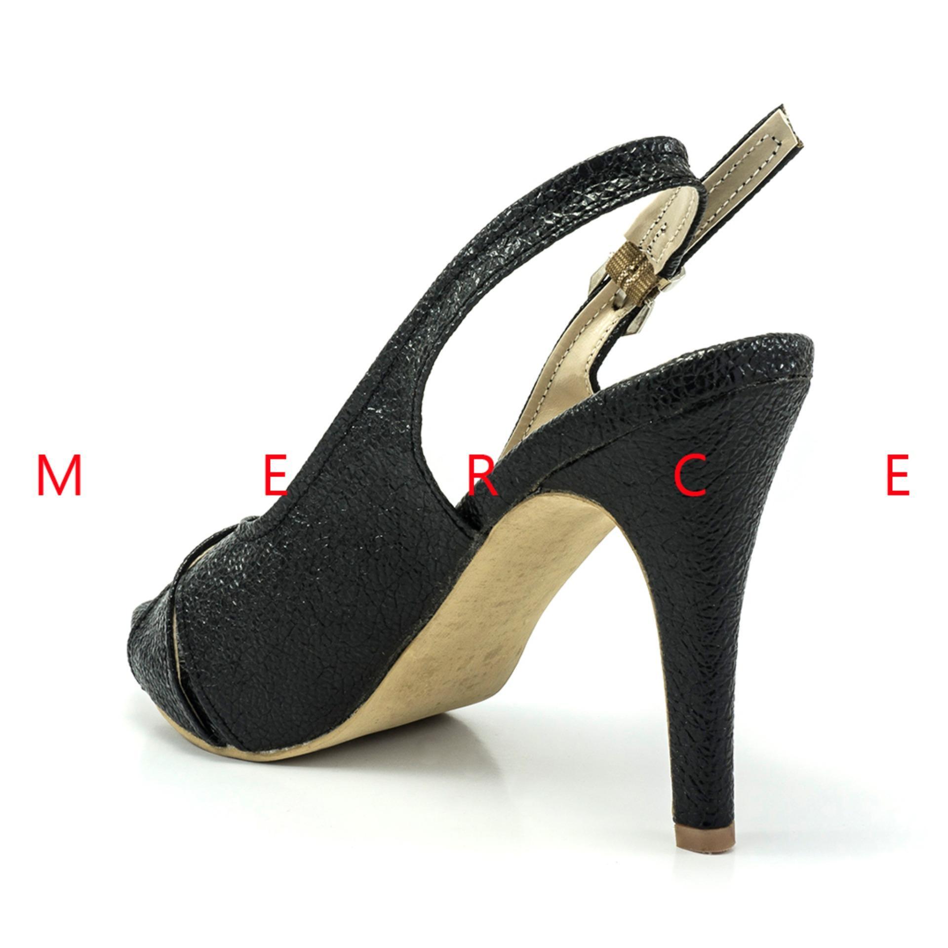 Isabel - Sepatu Wanita Hak Tinggi BRENDA Heels - Hitam ...