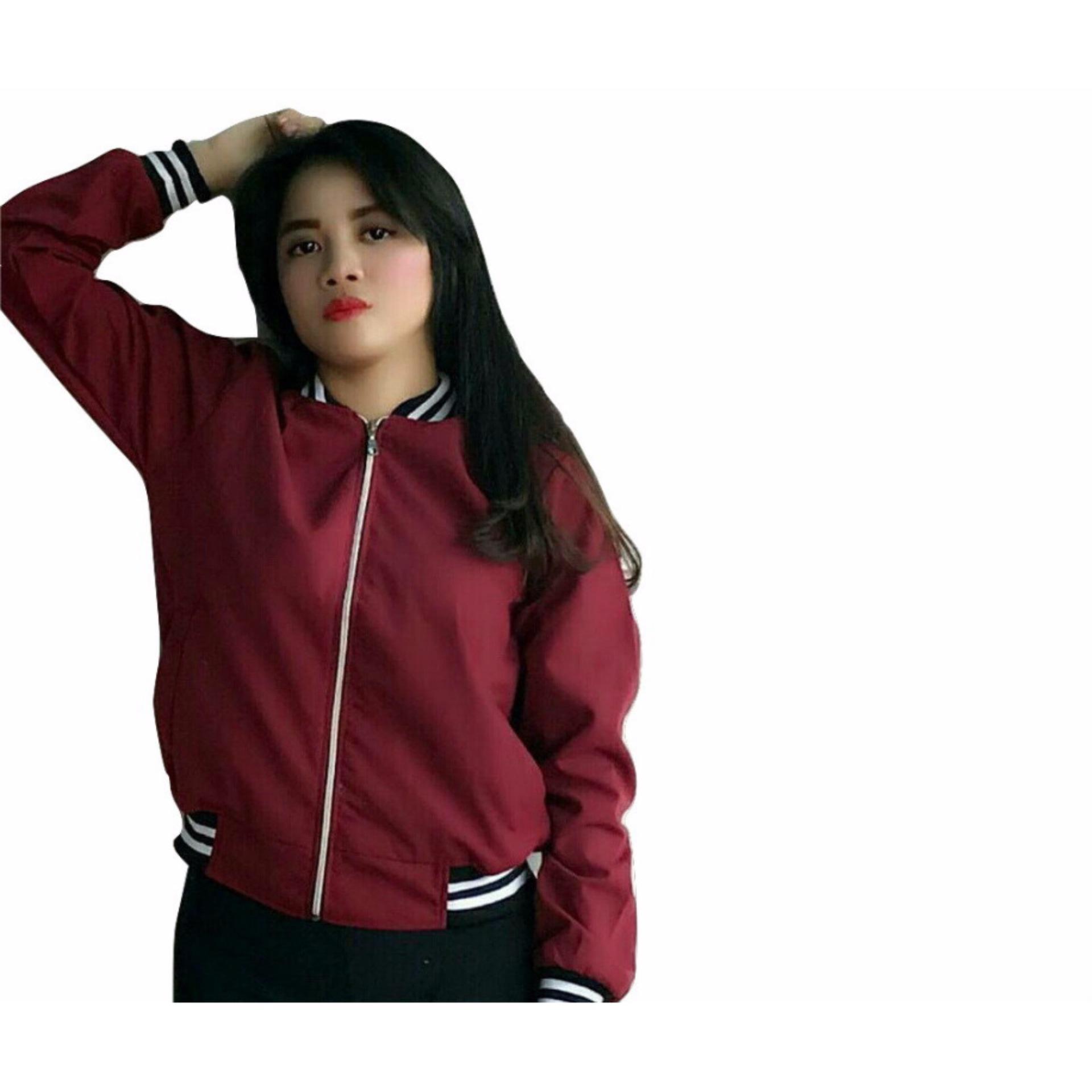 Bandingkan Simpan Jacket Bomber Wanita Rif Blaster Baby Jaket Maroon Kanvas