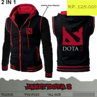 Jaket Distro Hoodie 2in1 Rompi Gaming Dota2