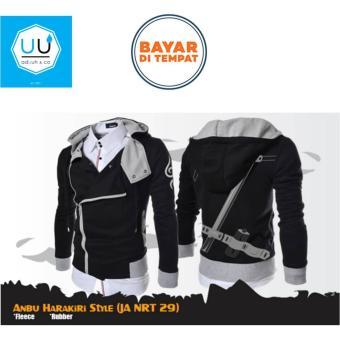 Jaket Harakiri Style Hoodie Anbu (Jaket Anime Naruto - JA NRT 29) - Black