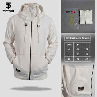 Jaket Hodie Zipper Original By TYPISCH - White Bone