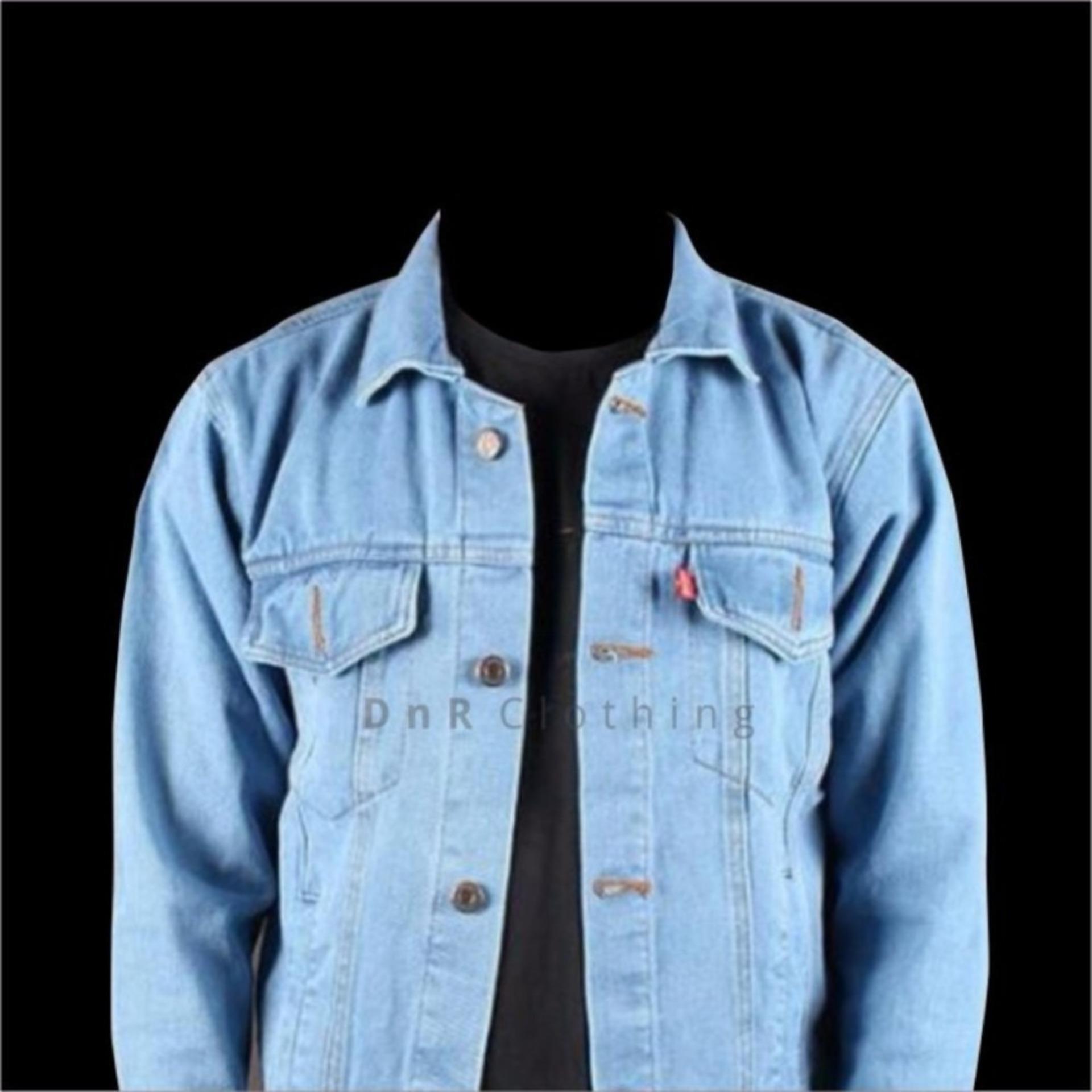 Pops Jaket Jeans Denim Pria Premium Biru Terang Daftar Harga Jean Tua Jak 2044 Light Blue Bioblits