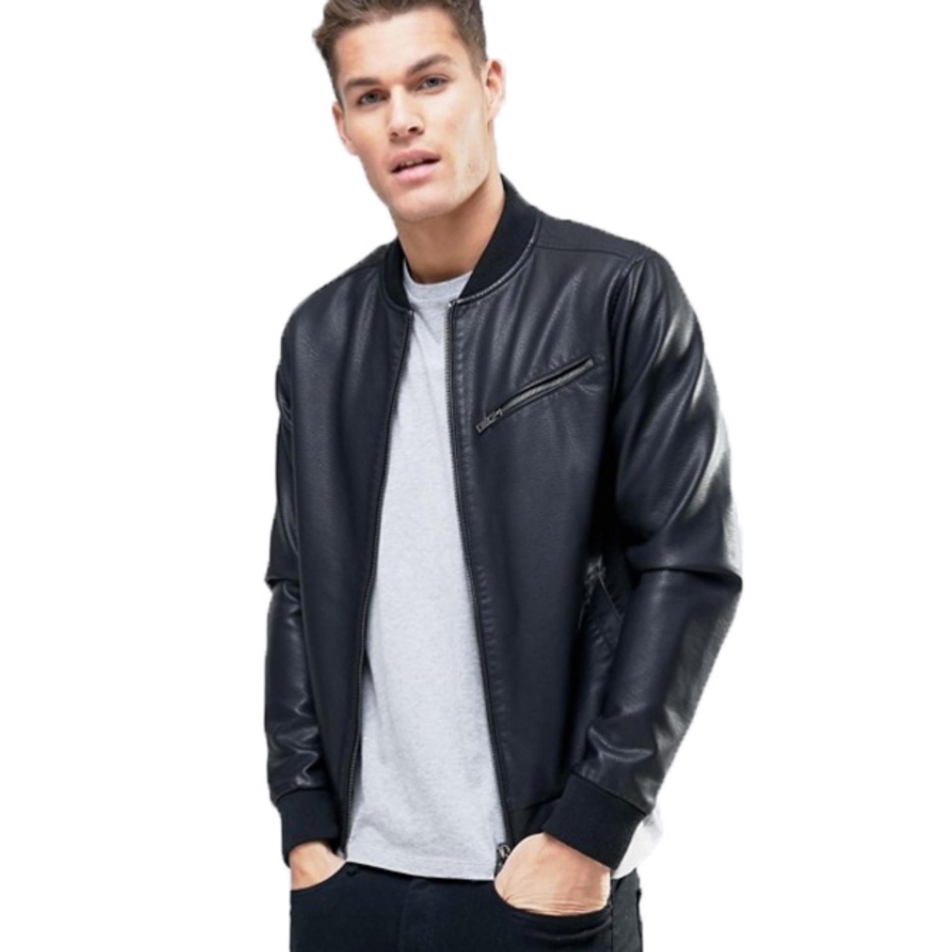 ... Jaket Kulit - Leather Bikers Jacket Style - Hitam ...