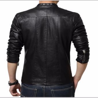 Jaket Kulit - Leather Jacket Black - 2