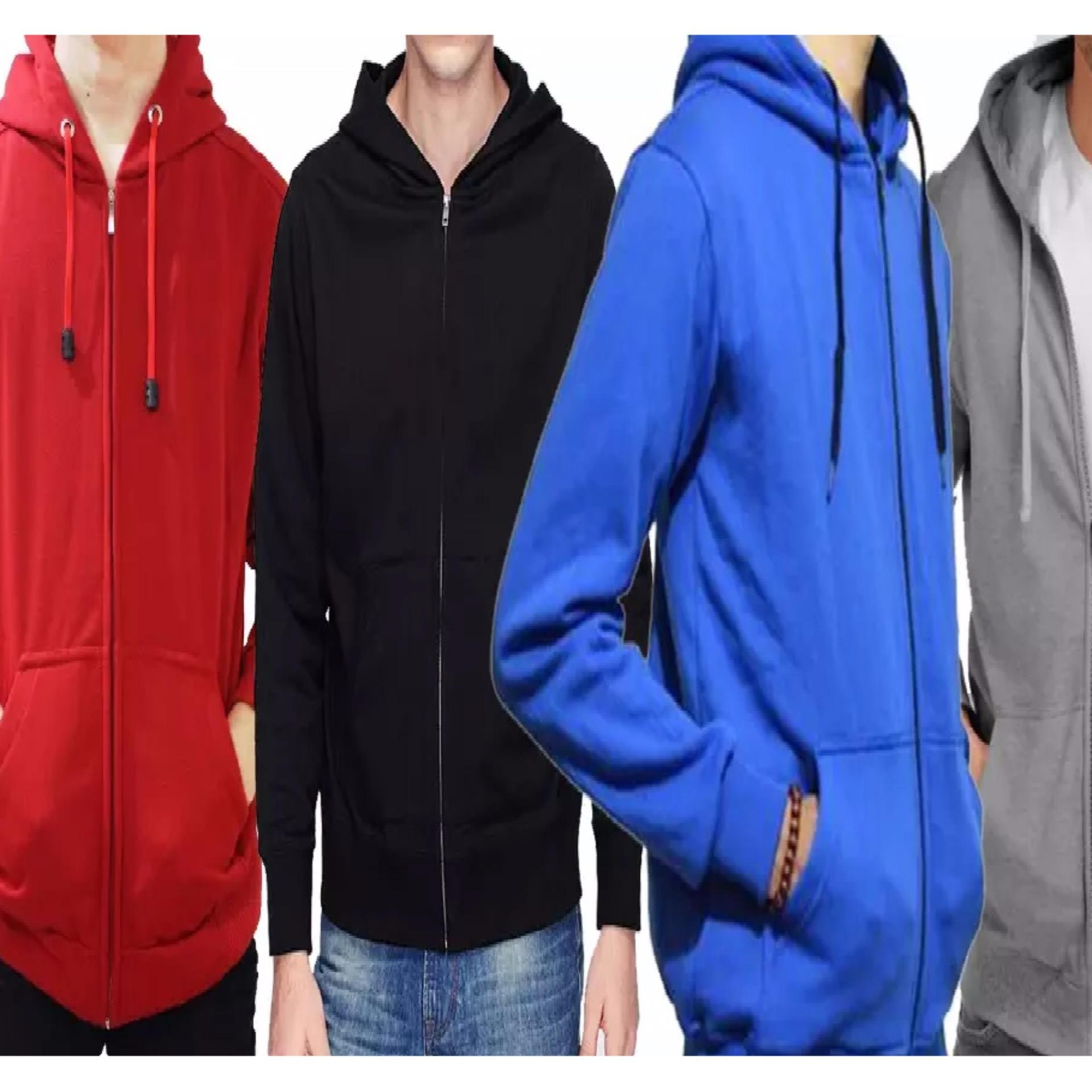 Hot Deals Jaket Sweater Hoodie Zipper Jumper Polos Untuk Pria Unisex Wanita High Quality Urgan