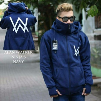 Jaket Sweater Ninja Masker Alan Walker Navy Blue