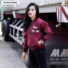 jaket wanita Private Bomber Maroon