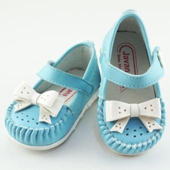 Javana Sepatu Anak Bayi Perempuan Pita Cantik JVNPITA - Biru - 2