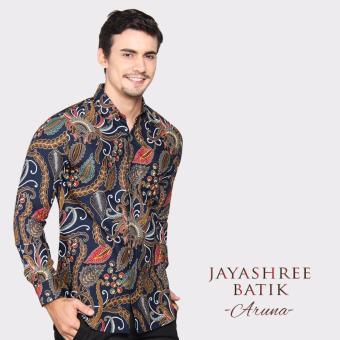 Gambar Jayashree Batik Kemeja Slimfit ARUNA Navy Long Sleeve Pria