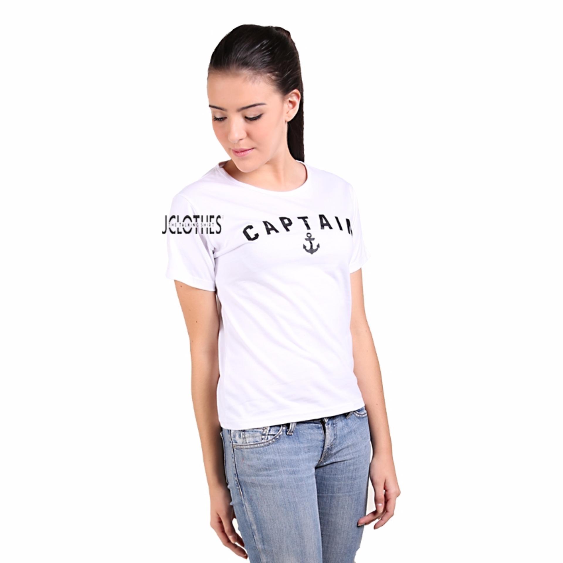 JCLOTHES Kaos Cewe / Tumblr Tee / Kaos Wanita Captain - Putih ...