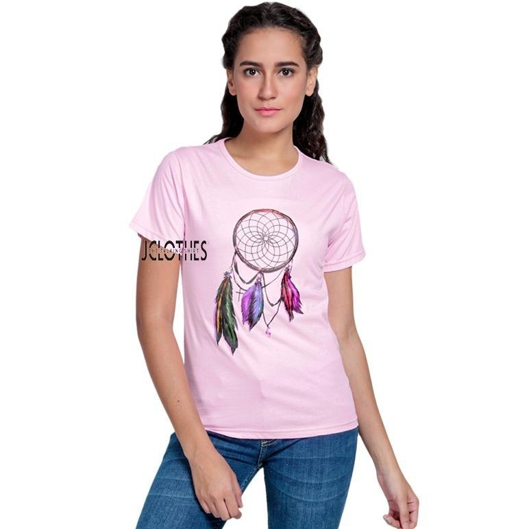 JCLOTHES Kaos Cewe / Tumblr Tee / Kaos Wanita Dream Catcher - Pink