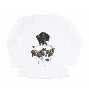 JCLOTHES Tumblr Tee / Kaos Cewe / Kaos Lengan Panjang Wanita Bodygirl - Putih - 3