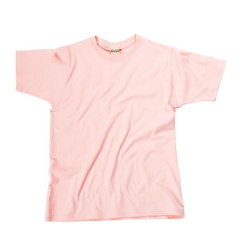 Gambar Jepang warna solid leher bulat longgar bottoming kemeja t shirt (Merah muda)