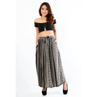 Jfashion Celana Kulot Panjang Wanita Dewasa Motif Batik - Kulot batik