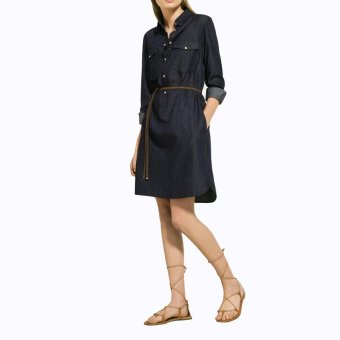 Rok Plisket. Source · Jfashion Dress Selutut Tangan Panjang Bahan Chambary - Dress Chambray