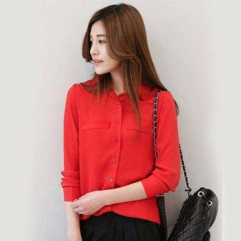 Harga Aquinn Labelle Long Jumpsuit Anatasya Maroon PriceNia com Source · Jfashion Korean Style Plain Shirt Long SLeeve Ummi Merah