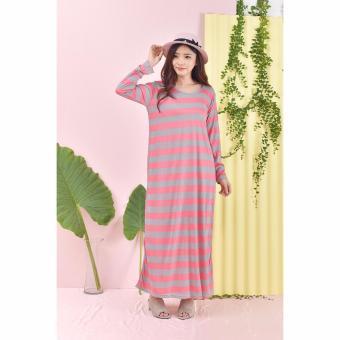 369 Blouse Casual Wanita Motif Salur Lengan Panjang - Hitam. Source · Jfashion Long Dress