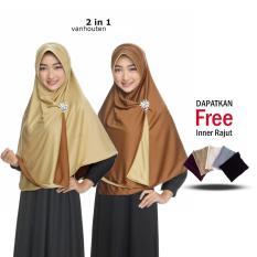 Jilbab Instant Jilbab 2 Warna Zannah Hijab Fashion Muslim Remaja Wanita Terbaru Instant Khimar Bergo Syar i Jumbo Bolak Balik Dua Warna Termurah Modern Model Sekarang